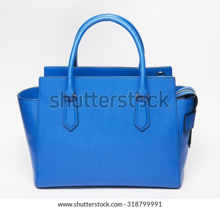 beautiful and elegant blue women bag isolated