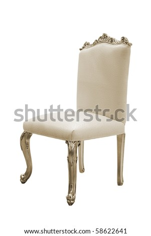 Beautiful and fashionable chair on a white background - stock photo
