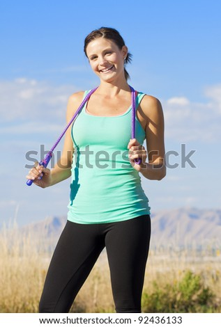 Beautiful and Fit Female Portrait - stock photo