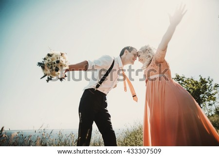beautiful and happy couple