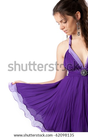 Beautiful Happy Young Girl Prom Dress Stock Photo (Royalty Free ...