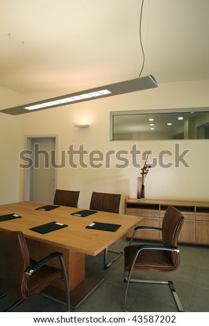 Beautiful and modern meeting room interior design.