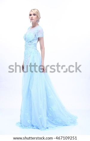 Beautiful Nice Lady Blonde Hair Snow Stock Photo 467109251 ...