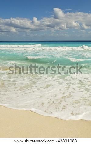 Beautiful and Serene Caribbean Beach - stock photo