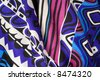 Beautiful and smooth colorful background silk - stock photo
