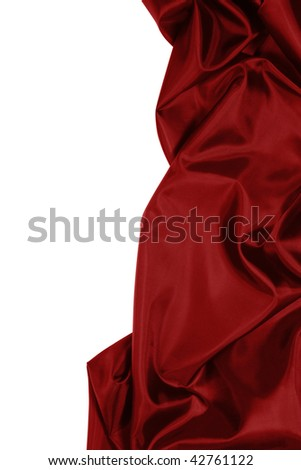 Beautiful and smooth Red satin with copy space