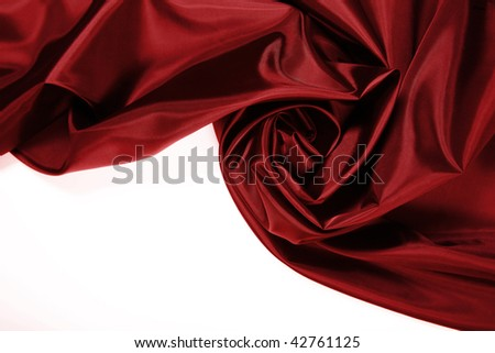 Beautiful and smooth Red satin with copy space - stock photo