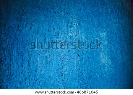 beautiful and textured wall of bright blue color