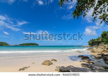 Beautiful andaman sea, Naihan beach Phuket Thailand.