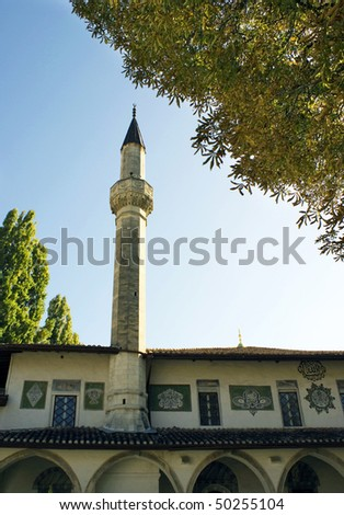Beautiful antique mosque in Bkhchisaray, best known as the former capital of the Crimean Khanate.