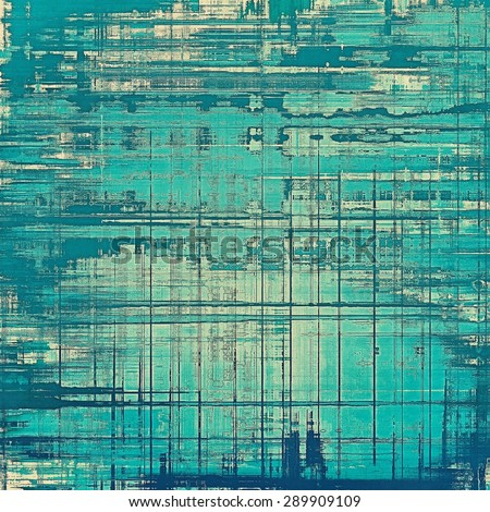 Beautiful antique vintage background. With different color patterns: gray; blue; cyan - stock photo