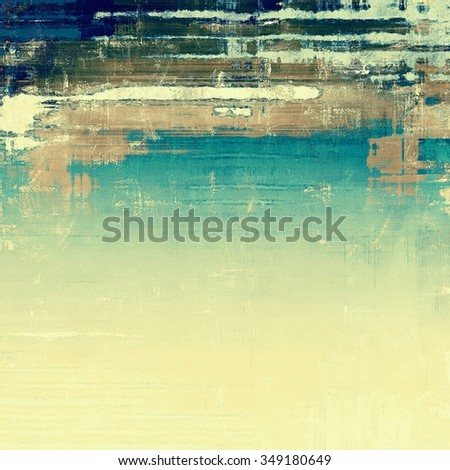 Beautiful antique vintage background. With different color patterns: yellow (beige); brown; blue; cyan - stock photo