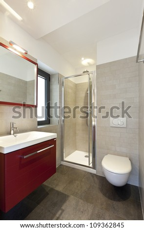 beautiful apartment, interior, bathroom - stock photo