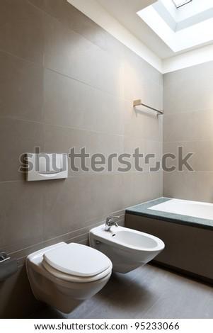 beautiful apartment, interior, bathroom - stock photo