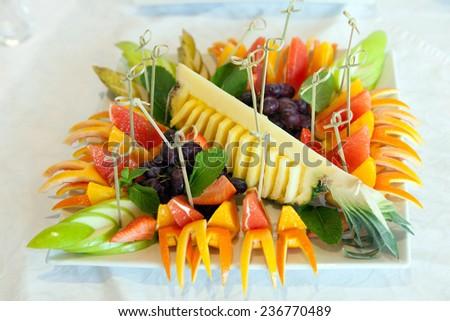 beautiful appetizer of fruit - stock photo