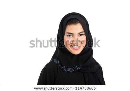 Beautiful Arab Female Wearing Abaya - stock photo
