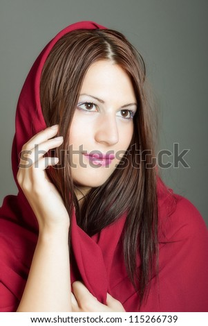 Beautiful Arabic woman - stock photo