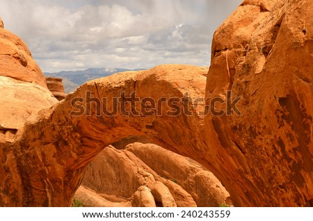 Beautiful Arches National Park, Utah, USA - stock photo