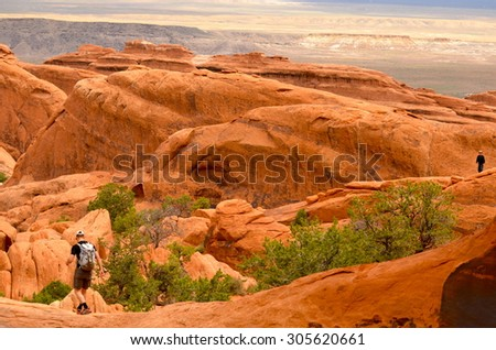 Beautiful Arches National Park, Utah, USA. - stock photo