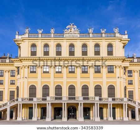 Beautiful Architectural Schonbrunn Palace, Vienna, Austria - stock photo