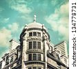 Beautiful architecture in London in muted vintage tones - stock photo