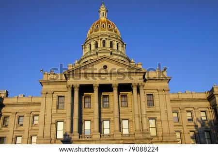 Beautiful architecture of Colorado capital building - stock photo