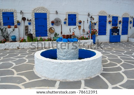 Beautiful architecture of Protaras village on Cyprus island - stock photo