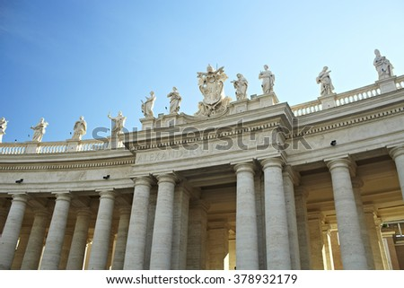 beautiful architecture of the Vatican