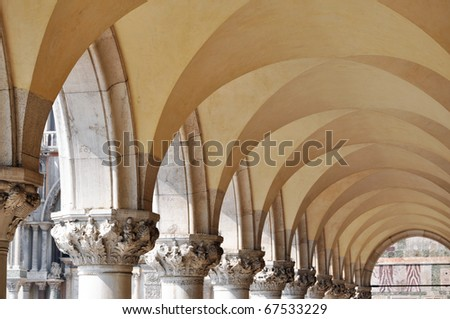 Beautiful archway in Venice, Italy - stock photo