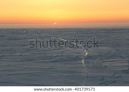 Beautiful Arctic sunset