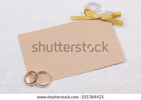 Beautiful art background  with  wedding rings