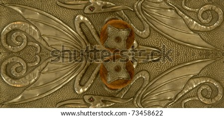 beautiful art-nouveau handmade brass design