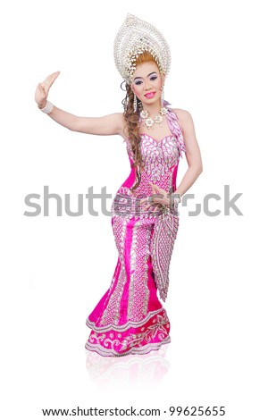 beautiful asian girl from thailand - stock photo