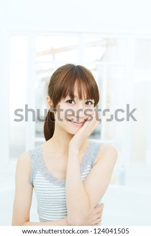 Beautiful asian woman - stock photo
