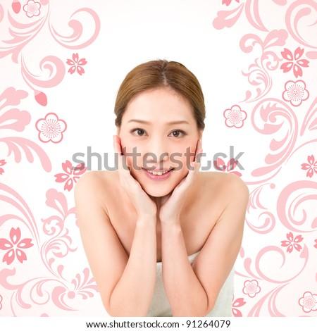 Beautiful asian woman - stock photo