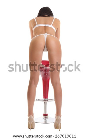 Beautiful athletic female ass in underwear - stock photo