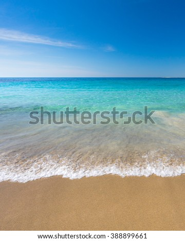 Beautiful Australian beach in summer - stock photo