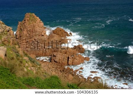 Beautiful australian seascape - stock photo