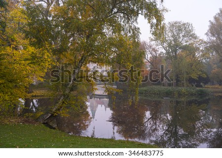 Beautiful autumn in Hannover Maschpark