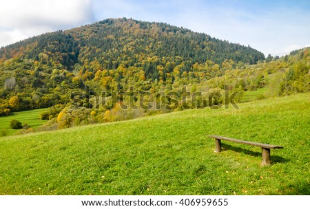 Beautiful autumn in mountains. Low Tatras, Slovakia - stock photo