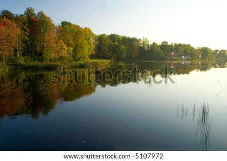 Beautiful autumn landscape from Baltic states, Latvia
