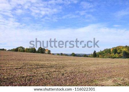 Beautiful autumn Landscape from the central Czech