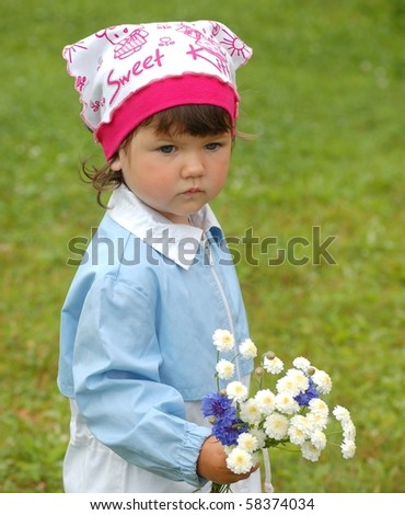 Beautiful baby girl - stock photo