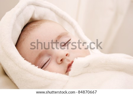 Beautiful baby girl sleeping