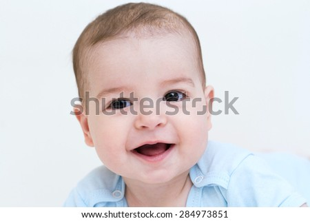 Beautiful baby on white background