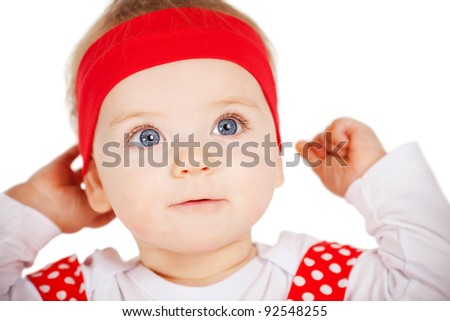 beautiful baby portrait - stock photo