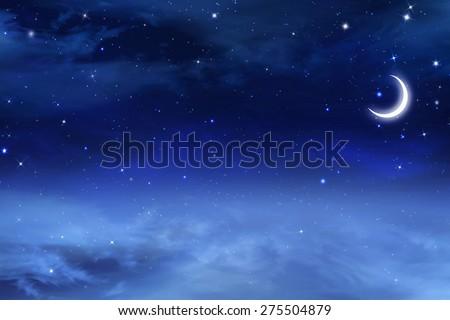 beautiful background, nigh sky - stock photo