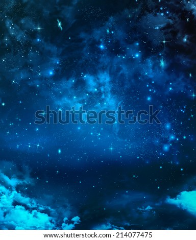 beautiful background, nightly sky  - stock photo
