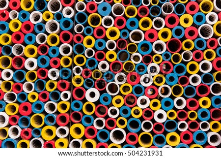 Beautiful background of many circles of different size and colors stacked together