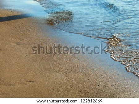 beautiful background of sea and sky - stock photo